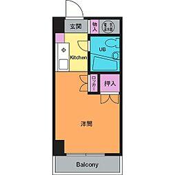 会田コーポ[6階]の間取り