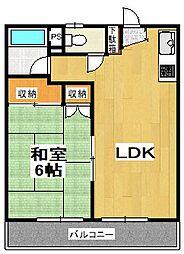 クニヤスNo2[102号室]の間取り