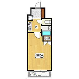 エトワール櫻井[1108号室]の間取り