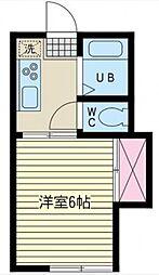 神奈川県相模原市南区相南1丁目の賃貸アパートの間取り