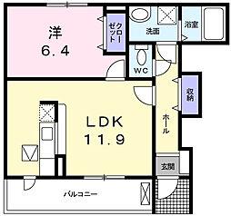 グレイス別所[1階]の間取り