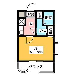 永吉マンション[9階]の間取り