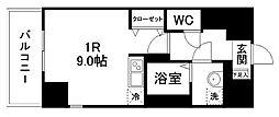 グラン・ドミール小田原弓ノ町 8階ワンルームの間取り