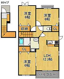 さくらA・B棟[2階]の間取り