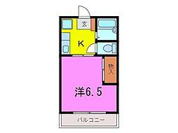 大府市 コーポ井村A[201号室]の間取り