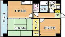 トーカンマンション高炉台公園[4階]の間取り