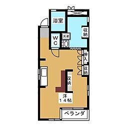 レジデンス大松[4階]の間取り