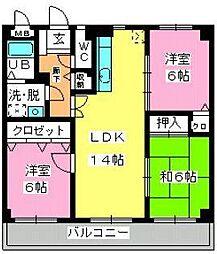 パラディ211[8階]の間取り