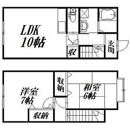 [テラスハウス] 静岡県浜松市南区古川町 の賃貸【/】の間取り