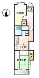 モンシャトー清水 12b[1階]の間取り