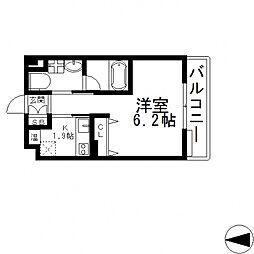 Ritz小阪(リッツ小阪)[6階]の間取り