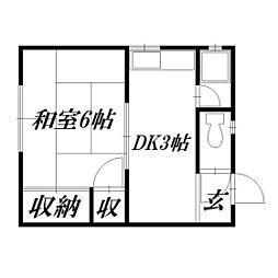 静岡県浜松市東区神立町の賃貸アパートの間取り