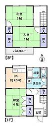 [テラスハウス] 千葉県八千代市勝田台北3丁目 の賃貸【/】の間取り