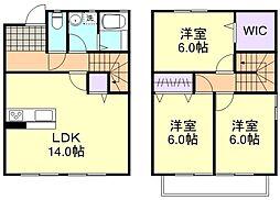 [テラスハウス] 岡山県倉敷市吉岡 の賃貸【/】の間取り