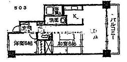 サーパス東島田[5階]の間取り