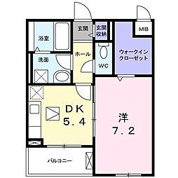 長野西アパートB[0106号室]の間取り