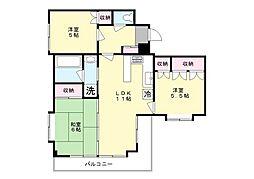 カネキ南生田[3階]の間取り