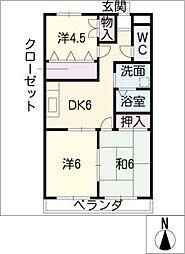 パレスグリーミーIII[3階]の間取り