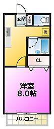 エストパルIIB棟[2階]の間取り