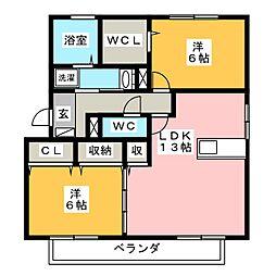 カーサシャルマン B棟[3階]の間取り