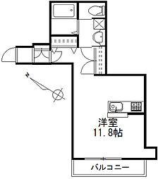 (仮称)白金台5丁目メゾン 2階ワンルームの間取り