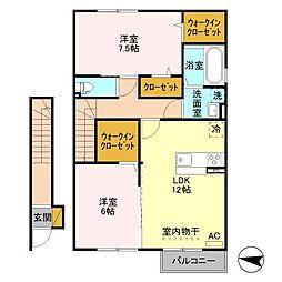 (仮)D-room鳥屋野南二丁目[2階]の間取り