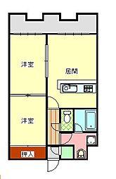 北海道札幌市厚別区厚別中央四条5丁目の賃貸マンションの間取り