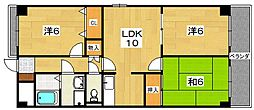 アデレード2番館[1階]の間取り