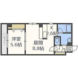 プライムコート北円山[3階]の間取り