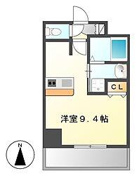 プレサンスNAGOYA桜通ビッグビート[4階]の間取り