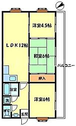 王谷マンション[3階]の間取り