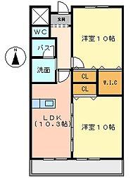クリスタルパレス[2階]の間取り
