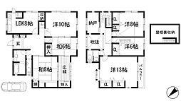 [一戸建] 兵庫県川西市萩原台東1丁目 の賃貸【/】の間取り