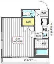 東京都豊島区西巣鴨4丁目の賃貸アパートの間取り
