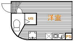 東京都新宿区市谷加賀町2丁目の賃貸マンションの間取り