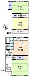 [一戸建] 千葉県八千代市八千代台東3丁目 の賃貸【/】の間取り