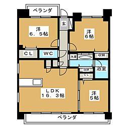 プレサンスジェネ栄[7階]の間取り