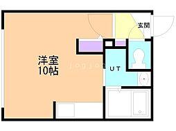 仮)Raffine大通東7 3階ワンルームの間取り