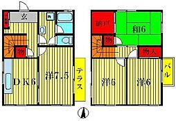 [一戸建] 千葉県松戸市東平賀 の賃貸【千葉県 / 松戸市】の間取り