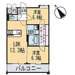 新築東大友町マンション[104号室]の間取り