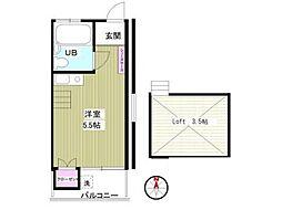 プチシャトー高円寺[2階]の間取り