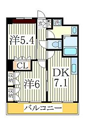 アジューレ[2階]の間取り