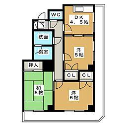 第17オーシャンビル[2階]の間取り