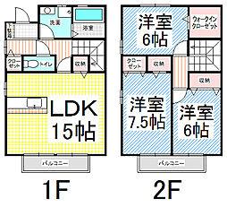 [テラスハウス] 長野県長野市松岡1丁目 の賃貸【/】の間取り