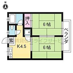 西山ハイツ2階[2-A号室]の間取り