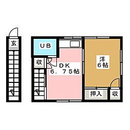 ラビットハウス[2階]の間取り
