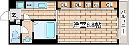 兵庫県芦屋市松浜町1丁目の賃貸アパートの間取り