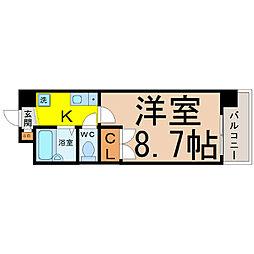 愛知県名古屋市昭和区藤成通2丁目の賃貸マンションの間取り