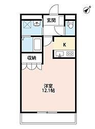 福岡県北九州市小倉北区中井4丁目の賃貸アパートの間取り