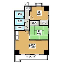 三陽ビルディング[4階]の間取り